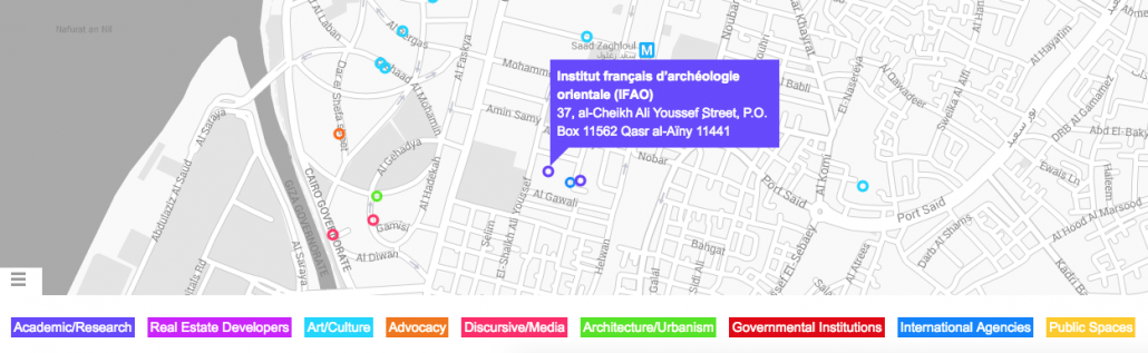 The Cairo Urban Initiatives Platform (CUIP) includes the multiple architecture, art, advocacy, urban development, and interdisciplinary initiatives addressing issues related to the city, the urban environment and public space in Cairo.