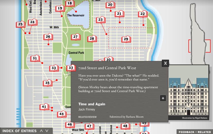 A Literary Map of Manhattan