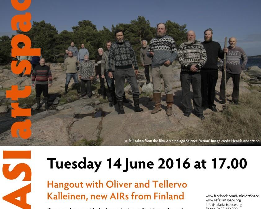 Artist Hangout at Nafasi with Tellerva and Oliver Kalleinen