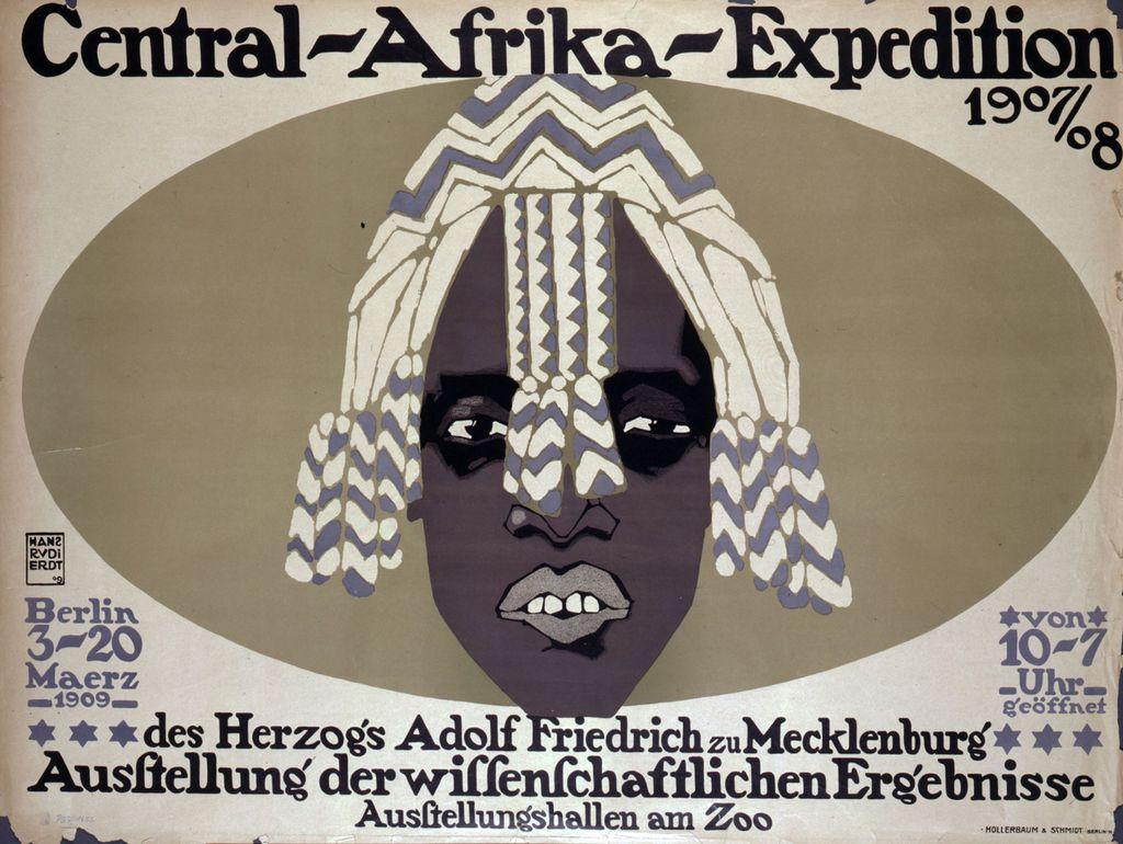 "Plakat zur Ausstellung ""Central-Afrika-Expedition 1907/08"""