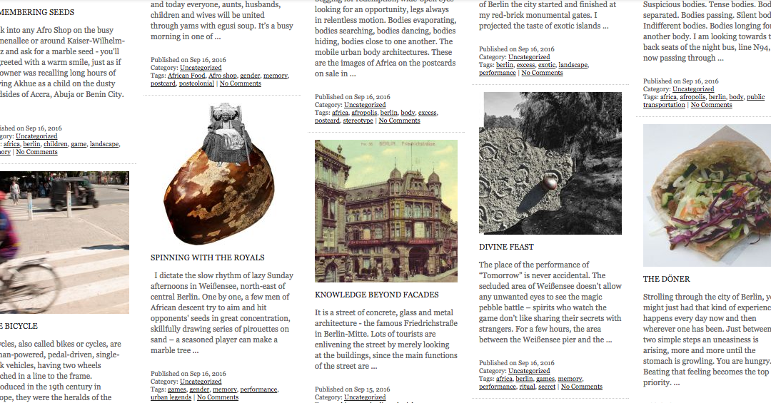 The archive – a collection of narratives now online!